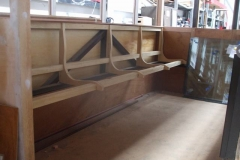 … and the second set of seats installed in the north saloon of carriage No. 23.