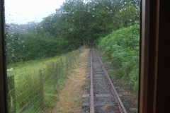 … so the first train went Up the line in the rain …