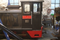 … which went into the Engine Shed for some work to be performed – including the fitting of the new name plates.