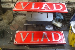 A pair of splendid cast name plates have been delivered for No. 11.