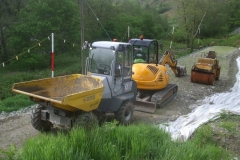 Southern Extension. Pont y Goedwig Deviation Project. Sunday, 6.6.2021. Last night, machinery returned to the work site …