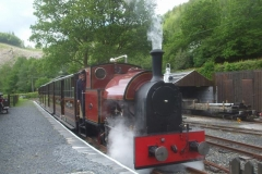 … and sets off in good time with train, for Corris.