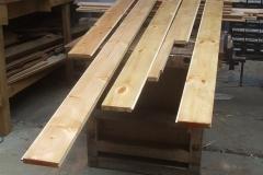Tony has been waterproofing more floor planks for carriage No. 24 …