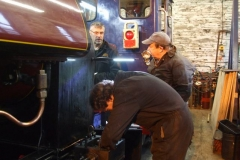 … to get the loco to steam at its optimum, while Ian calls to see what is going on.