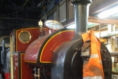 Over the weekend, Trefor completed re-fitting everything on the boiler of No. 7 ready for its steam test …