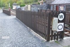 … the various fences around the yard have all been re-stained …