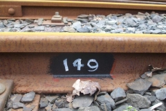 … while outside, a start has been made on painting rail joint numbers in a much more legible manner than hitherto!