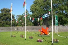 Last week was Eisteddfod week in Meifod (near Welshpool), so this display greeted travellers from south west Wales in Machynlleth …