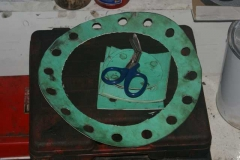 … some of the new gaskets have been prepared ...