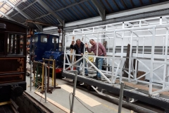 Ade and David pose before setting off out of the Carriage Shed.