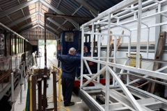 After months of working away on carriage 24 Ade and David prepare for the first test run of carriage 24.