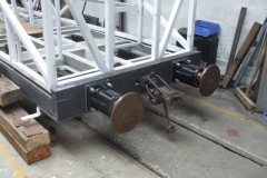 … while by lunch time, buffers had been fitted to one end of carriage No. 24.