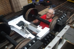 … with Andy concentrating on the brakes on one of the bogies …