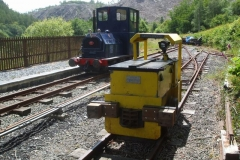 In between trains, Nos. 6 & 9 are pictured basking in the sun …
