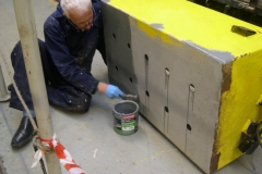 … and Phil has started painting on the outside of the battery box. Are you sitting comfortably?