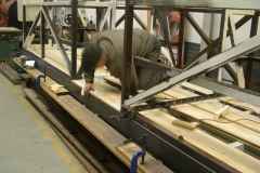 After lunch, Steve is about to bolt the first floor planks down in carriage No. 23 …