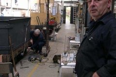 "Adjacent, Graham and Adrian are working on the ""Queen Mary"" waggon …"