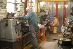 Bob and Steve are in their usual spots, Steve finishing off milling the last of the axleboxes for carriages 23 & 24 …