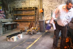 Patrick has nearly finished clearing the north end of the Engine Shed …