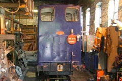 While passenger trains operate, Trefor gives No. 6 an oil change and service …