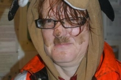 … before Andrew added make-up to a bedraggled Helen!