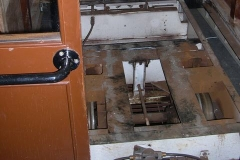 … as the floor of the South compartment of carriage No. 20 is completely removed …