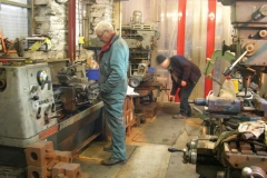 Meanwhile, Bob and Chris continue machining carriage axleboxes …