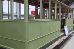 … and yesterday, carriage No. 23 was thoroughly rubbed down ready for its first coat of undercoat.