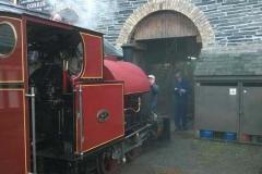 No. 7 undergoes her steam test.