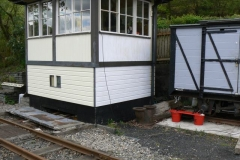 4th May. Further work was done painting the signal box at Maespoeth