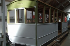 Dave has completed the painting of carriage No. 23 in brushing filler.