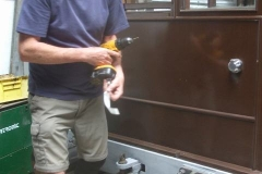… but can't leave without drilling holes in the carriage body to receive some of them!