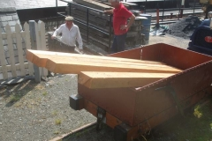 … to transfer timber for the next Heritage waggon chassis (waggon No. 5) for transfer to the Carriage Shed.