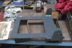 Thursday, 6.8.2020. One of the seat frames for carriage No. 24's Guards compartment has been painted in undercoat …