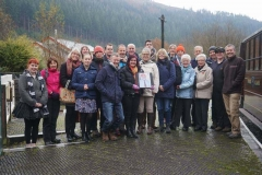 … but the trip was (just) successfully achieved so that a group photograph could be taken at Corris.