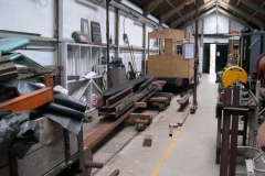 … with the steel back in position to re-commence work on the frames of carriage No. 24 …