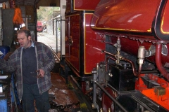 Back at the Engine Shed, No. 7 is disposed of largely by Trefor ...