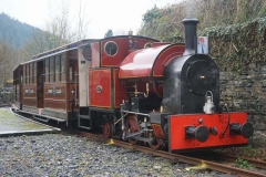 The train awaits its passengers at Corris …