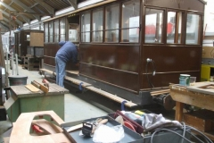 … to sand down and prepare paintwork in and around the vestibule of carriage No. 23 …