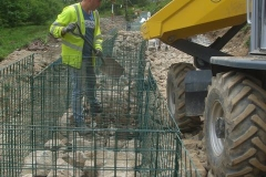 This allows very easy access to fill the gabions!