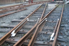 … and turnout rail ends have all been re-painted.