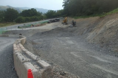 The excavation for the Tywyn spur off the new road alignment is largely complete ...
