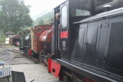 Monday, 6.9.2021. Early morning, and No. 11 pushes Nos. 4 and 7 out of the Engine Shed ...