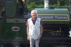 On a later train was Selwyn Humphreys, son of the last Corris driver (and fireman) Humphrey Humphreys.