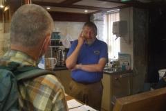 Sunday, 5.9.2021. David interviews Knappett (Snrs) manning the Museum ...