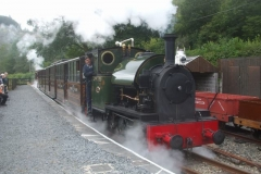 Trefor tries his hand at driving No. 4 ...