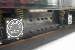 … the finished axlebox covers have been fitted to No. 22's bogies …
