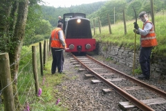 In the evening, after everything was otherwise put away, No. 11 is taken up the line to Corris on a successful gauging trial …