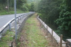 … Tanycoed to make it easier for the roadside wall to be inspected.