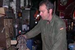 Monday, 6.6.2016. Trefor has called in the shed to fabricate a revised brake pipe, valve and gauge for the south end of carriage No. 20.